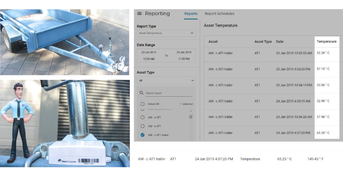 Fleet Complete asset tracker AT1 heat test.